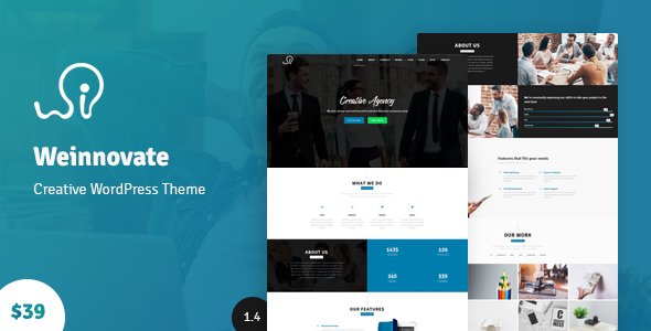 Weinnovate - One Page Business WordPress - Corporate WordPress