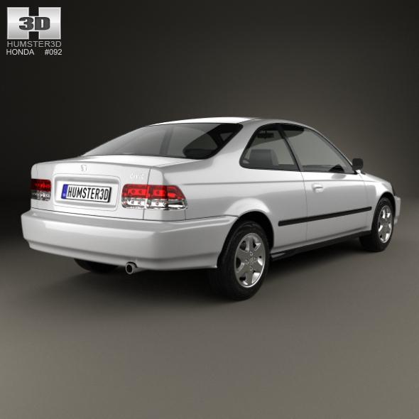W Mega Honda Civic coupe 1996 by humster3d | 3DOcean DU97