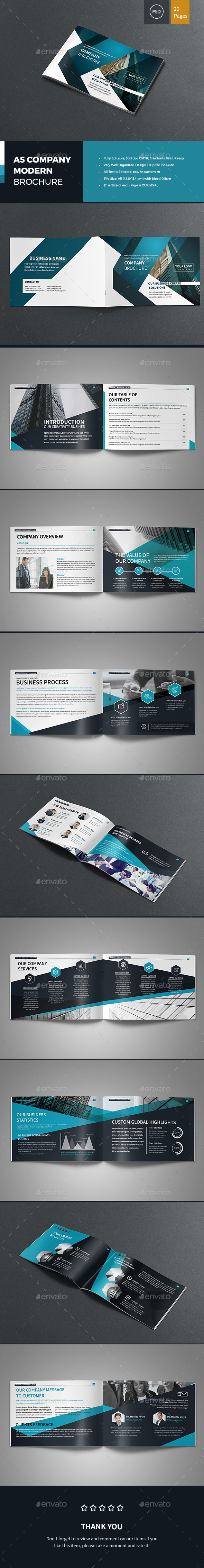 A5 Company Modern Brochure - Corporate Brochures