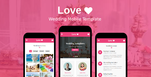 Love – Wedding Mobile Template