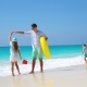 Happy Family at Tropical Beach Having Fun - VideoHive Item for Sale