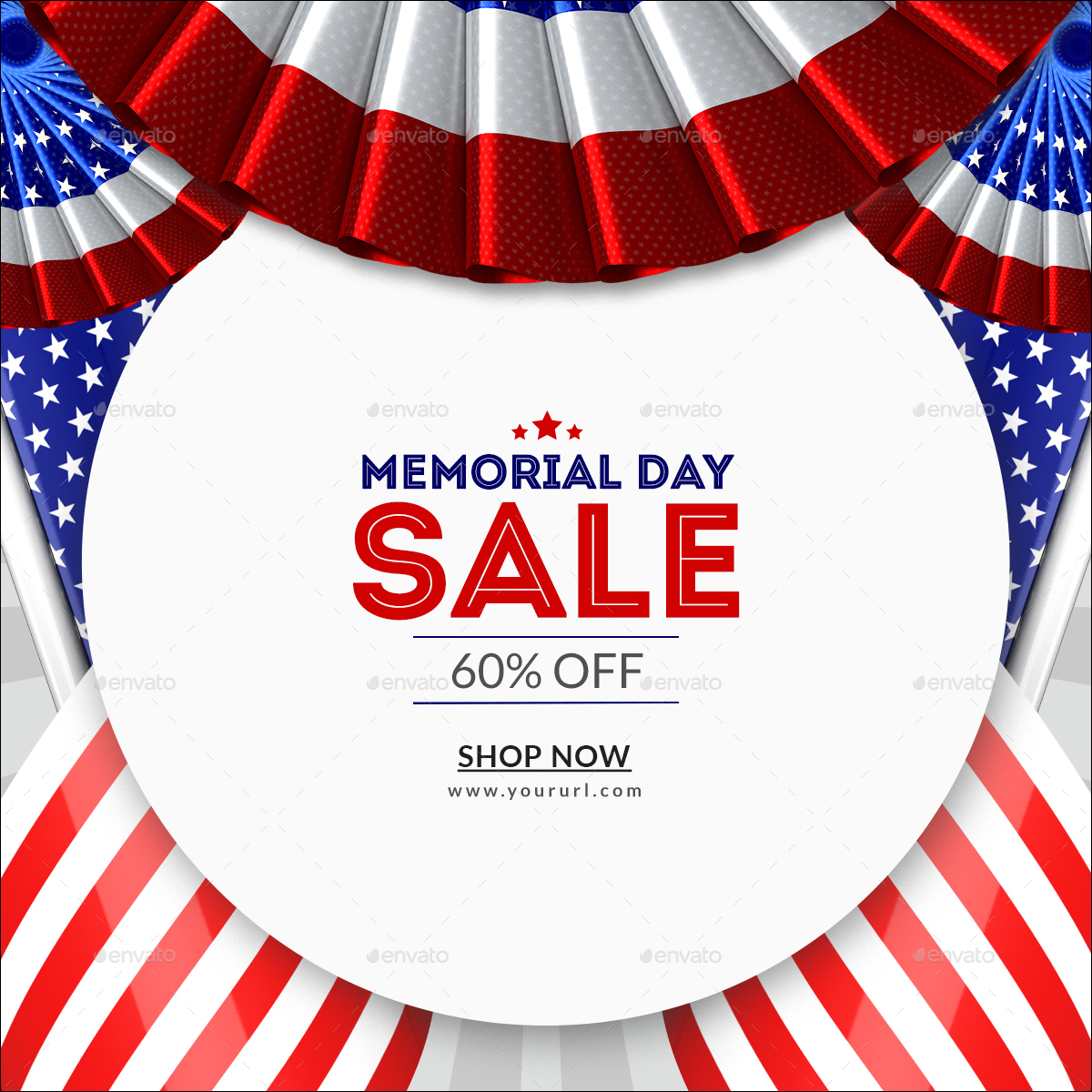 memorial day banners by doto