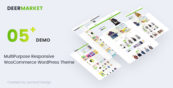 ThemeForest DeerMarket Multipurpose Responsive WooCommerce WordPress Theme 19988516