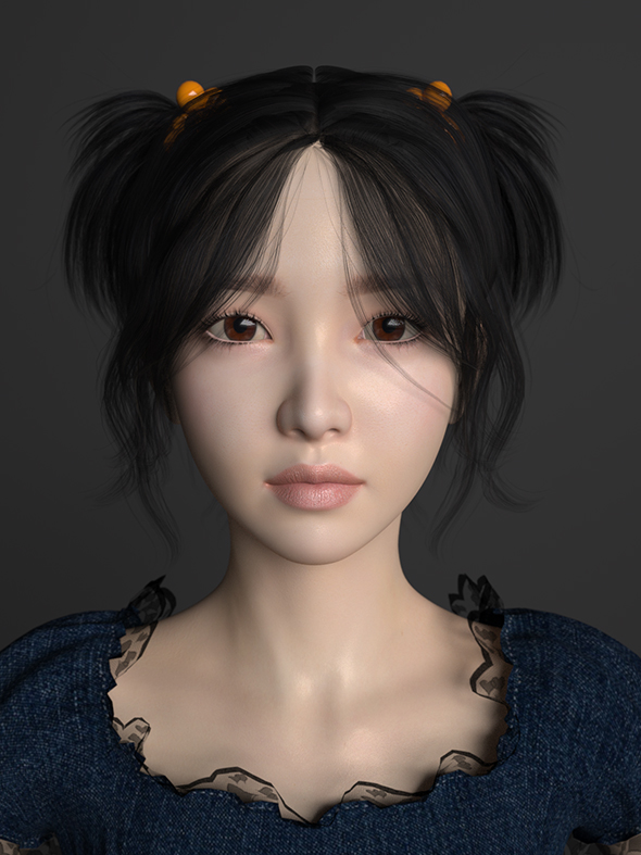 Asian beautiful girl - 3DOcean Item for Sale