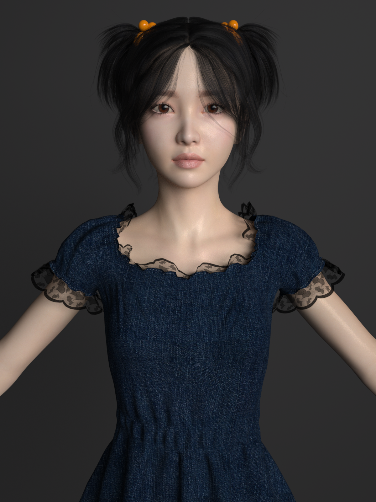 Asian beautiful girl by hatred123 | 3DOcean