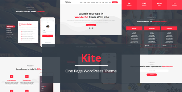 Kite - Responsive One Page Multipurpose WordPress Theme