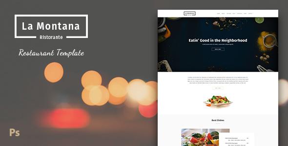 LaMontana – Restaurant PSD Template