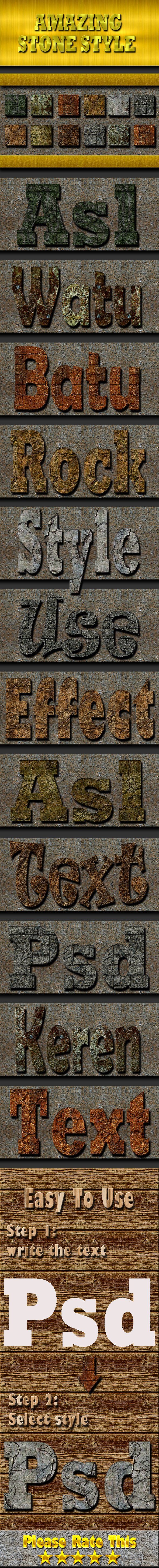 Stone Text Effect Style - Text Effects Styles