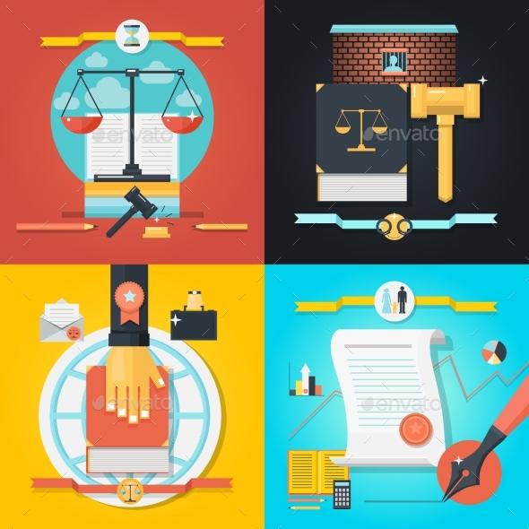 Law Composition Set - Miscellaneous Vectors
