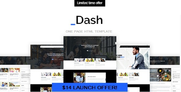 Dash – Multipurpose Portfolio/Business Website HTML5 & CSS3 Template