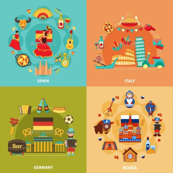 Eurotrip Travel Design Concept - Miscellaneous Vectors