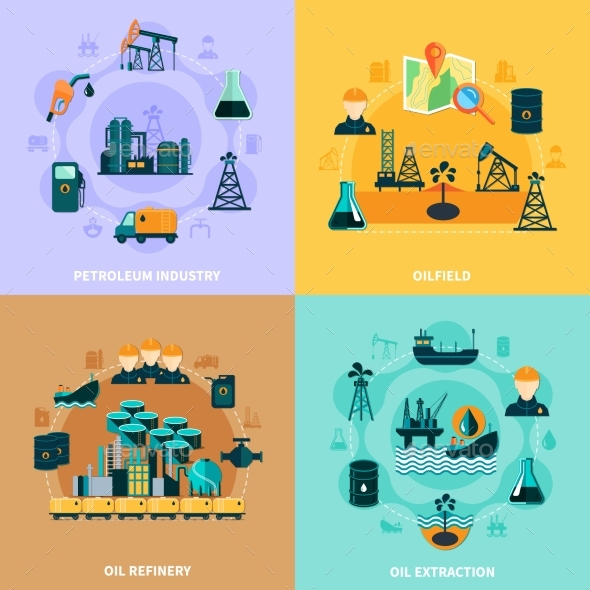 Oil Infrastructure Design Concept - Industries Business