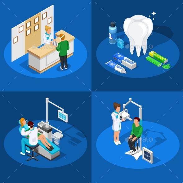 Dentistry Isometric Design Concept - Health/Medicine Conceptual