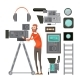 Film Cameraman With Video Equipment - GraphicRiver Item for Sale