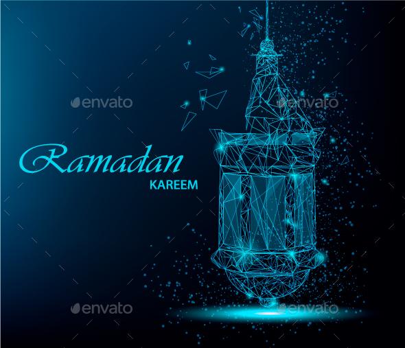 Polygonal lantern for Ramadan Kareem - Miscellaneous Seasons/Holidays