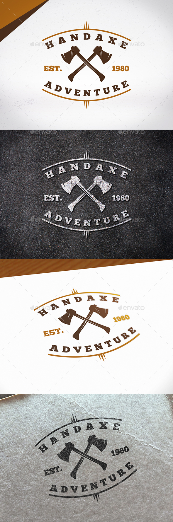 Hand Axe Logo Template - Crests Logo Templates
