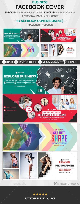 Facebook Cover Bundle(vol : 4) - 4 Design - Facebook Timeline Covers Social Media