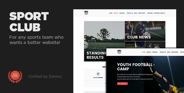 Sport Club – A  WP Theme For Your Small, Local Team (Nonprofit) images