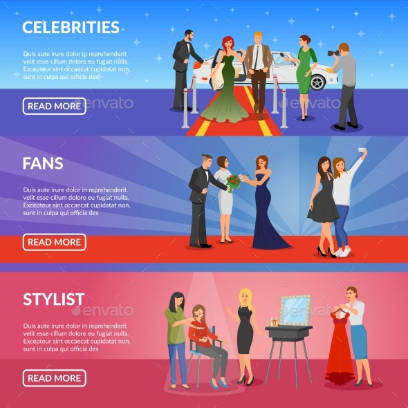 Celebrity Horizontal Banners - Backgrounds Decorative