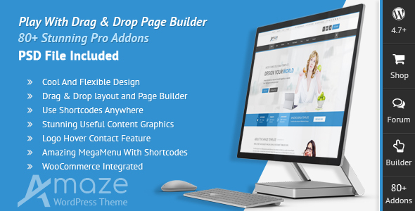 Amaze - Corporate Responsive Multi-Purpose WordPress Theme