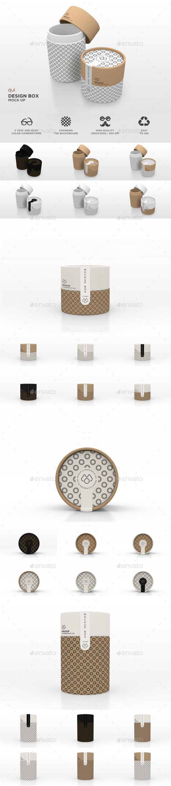 Packaging Mock Up - Paper Carton Tube - Packaging Product Mock-Ups