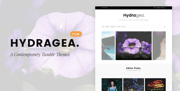 Hydragea | A Contemporary Tumblr Theme - Blog Tumblr