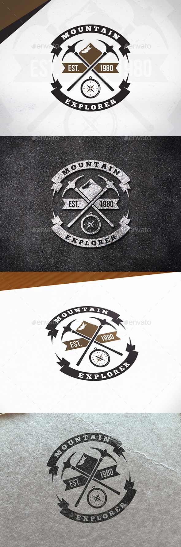 Mountain Explorer Logo Template - Crests Logo Templates