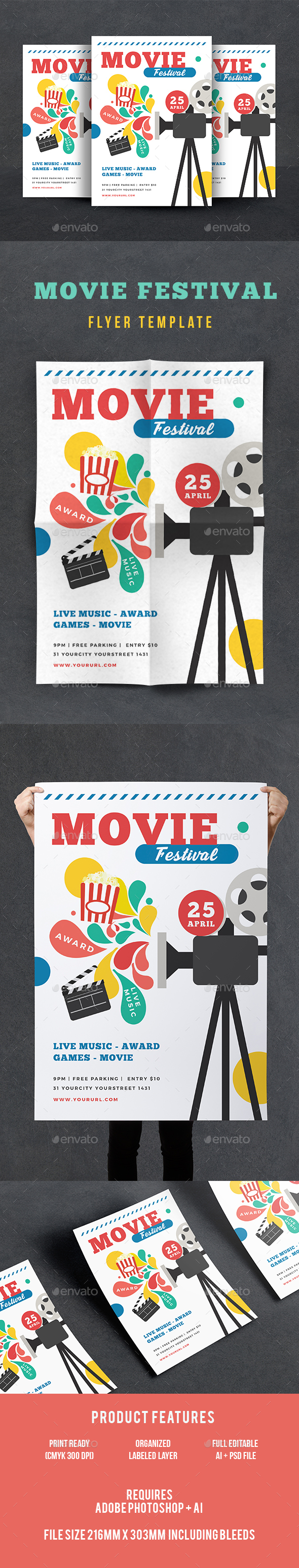 Movie Festival Flyer - Events Flyers