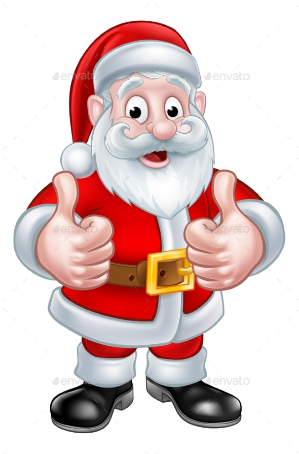 Santa Claus Christmas Cartoon Character - Seasons/Holidays Conceptual