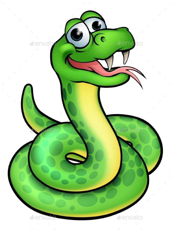Cartoon Snake Character - Animals Characters