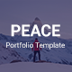 Peace - Personal Portfolio Template - ThemeForest Item for Sale