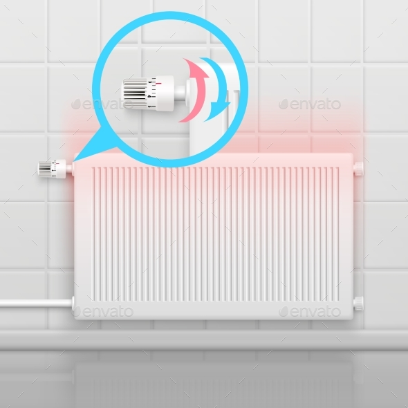 Heating Radiator Flat Concept - Technology Conceptual