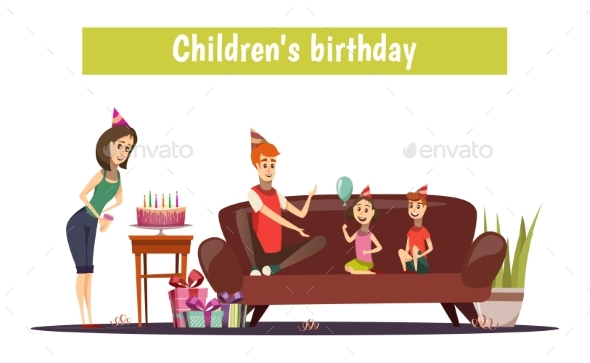 Kids Birthday Composition - Seasons/Holidays Conceptual