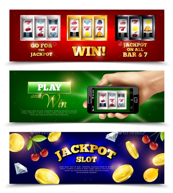 Slot Machine Banners Set - Sports/Activity Conceptual