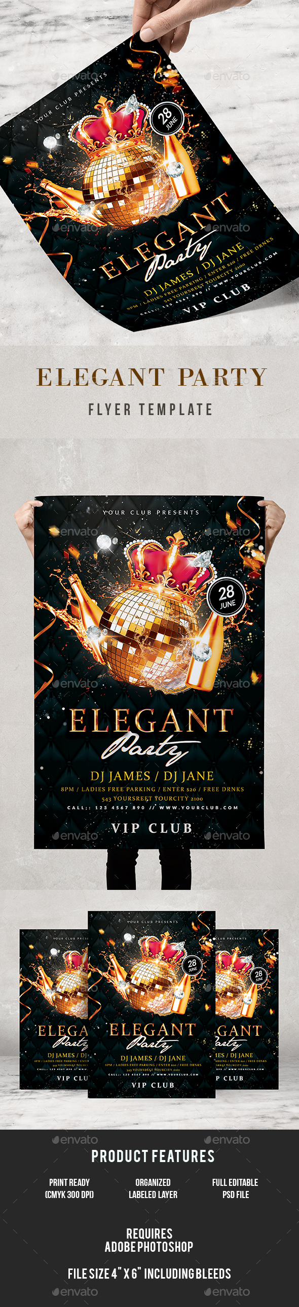 Elegant Flyer - Clubs & Parties Events