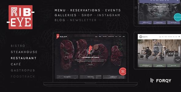 Rib-Eye: Restaurant WordPress Theme - Restaurants & Cafes Entertainment