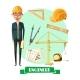 Engineer with Tool Icon for Profession Design - GraphicRiver Item for Sale