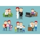 Family in Different Life Stages Cartoon Set - GraphicRiver Item for Sale