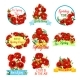 Spring Flower Bouquet Isolated Icon Set - GraphicRiver Item for Sale