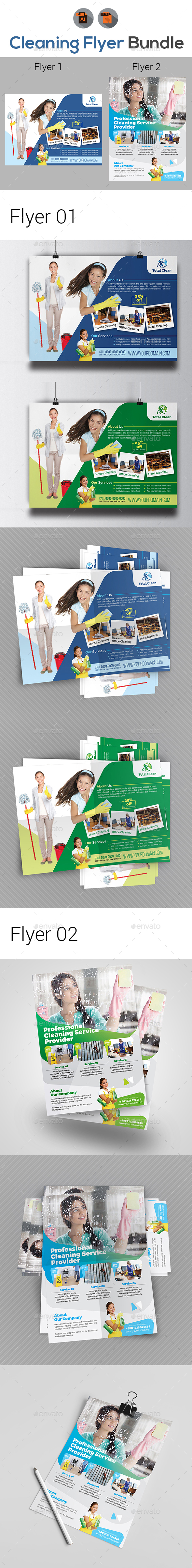 Cleaning Services Flyer Templates - Corporate Flyers