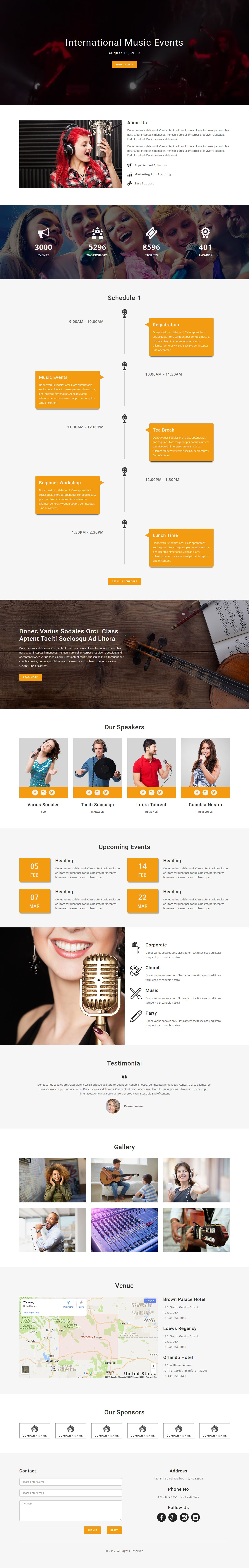 Event multipurpose responsive html landing page