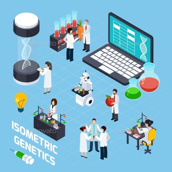 GMO Isometric Composition - Miscellaneous Vectors