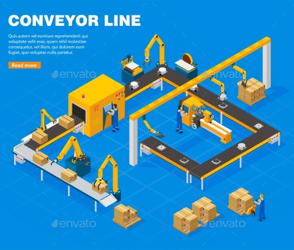 Conveyor Line Concept - Industries Business