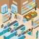 Supermarket Isometric Design Concept