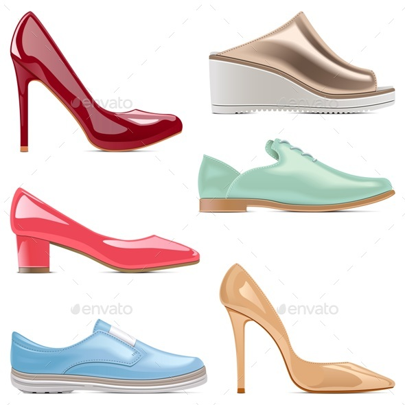 Vector Fashion Shoes - Retail Commercial / Shopping