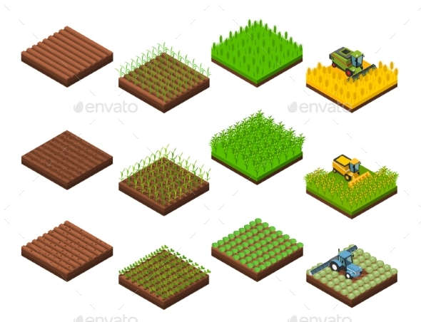 Harvest Work Elements Set - Buildings Objects