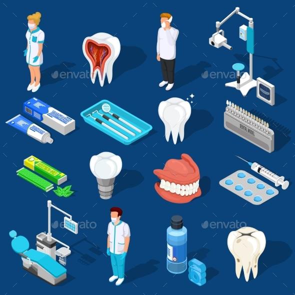Dental Work Elements Set - Health/Medicine Conceptual