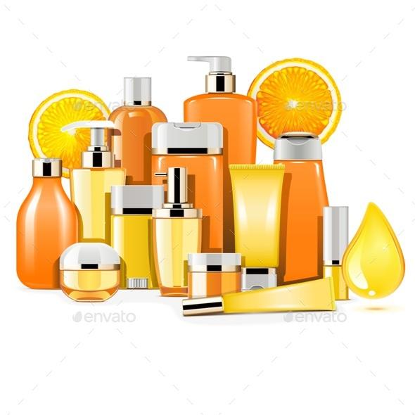 Vector Vitamin Cosmetics - Health/Medicine Conceptual