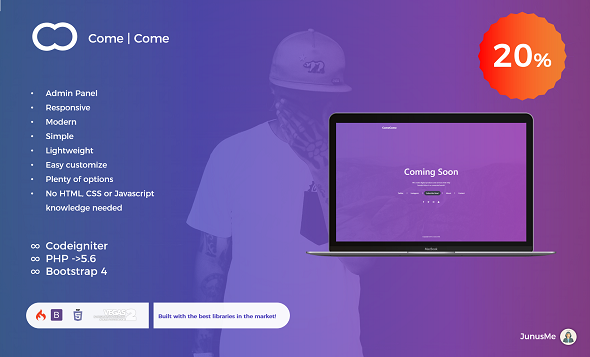 Coming Soon w/ ADMIN - CodeCanyon Item for Sale