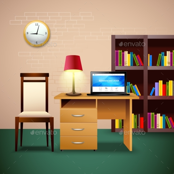 Room Design Illustration - Man-made Objects Objects